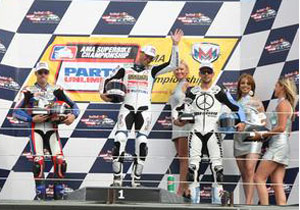 Ben Spies and Mat Mladin have been on the podium all year, but Laguna Seca was Aaron Yates' first of 2008.