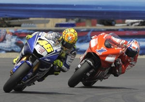 The battle between Valentino Rossi and Casey Stoner in last year's USGP may have been the turning point in the 2009 MotoGP season.