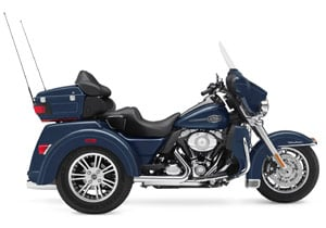 The Tri Glide has an all new chassis and a longer fork with a 32 degree rake.