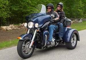 Harley-Davidson enters the trike market with the 2009 Tri Glide Ultra Classic.