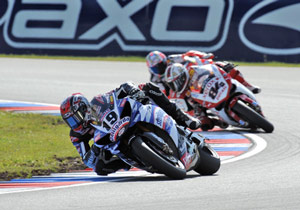 Ben Spies may have had a chance for two victories if he hadn't been knocked out of Race 1 by Michel Fabrizio.