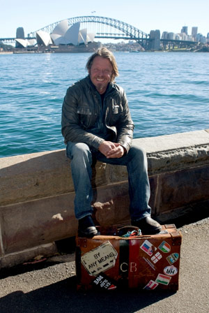 After completing his journey, Charley Boorman took time off with his family in Australia.