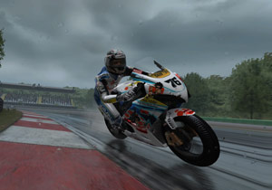 Developer Milestone focused on delivering realism from wet weather conditions to riders such as Max Neukirchner.