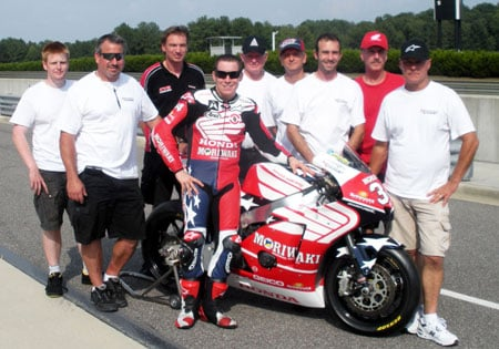 The American Honda Moto2 team at Barber Motorsports Park.