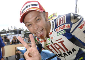 Valentino Rossi recorded his second straight win and fifth of the season.
