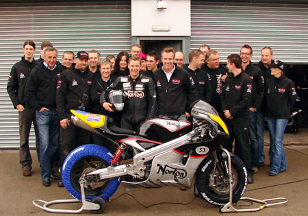 The Norton Motorcycles crew and the NRV588.