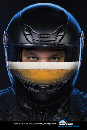 A new advertising campaign by the NHTSA warns about the dangers of riding drunk.