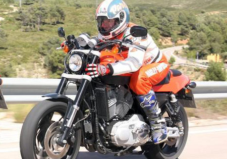 Scott Parker still maintains ties with Harley-Davidson, taking part in the press launch for the XR1200.