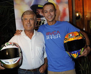 Giacomo Agostini and Valentino Rossi will join contest winners on a tour through Italy's Tuscan region.