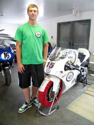 Matt Dieckmann and the Electric Race Bikes EGP.