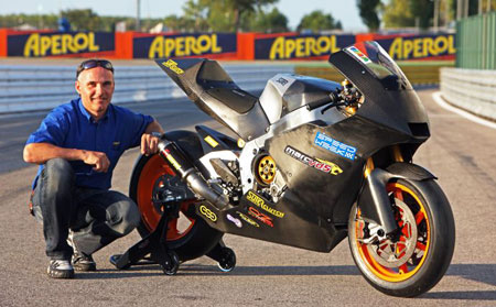Suter unveiled its MotoGP prototype at the San Marino Grand Prix.