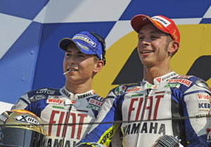MotoGP riders such as the Fiat Yamaha duo of Jorge Lorenzo (left) and series leader Valentino Rossi will answer questions at the Indianapolis GPreview.