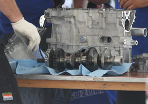 The crankshaft from Mladin's GSX-R1000 did not match any of the three models provided by Suzuki.