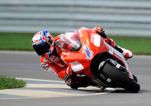 Casey Stoner was just 0.084 seconds off of recording his eighth-straight pole position.