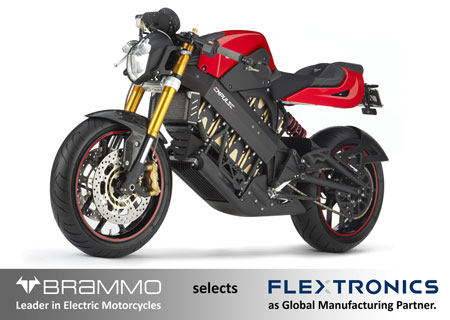 The Flextronics partnership will allow Brammo to increase its scale on a global level for its electric motorcycles such as the Brammo Empulse.