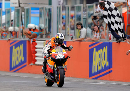 Dani Pedrosa has won three World Championship titles with Honda, two in the 250cc class and one in the 125cc class.