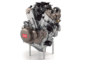 At the heart of the RSV4 is a 65-degreee V-Four engine.