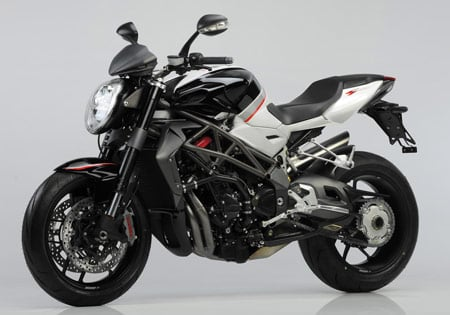 Oddly, MV Agusta says the 2010 Brutale 1090RR has lower torque and power output than the 2009 1078RR.