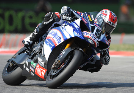 Ben Spies missed the podium in both races at Imola, the first time he's failed to score a top three finish in a WSBK round.