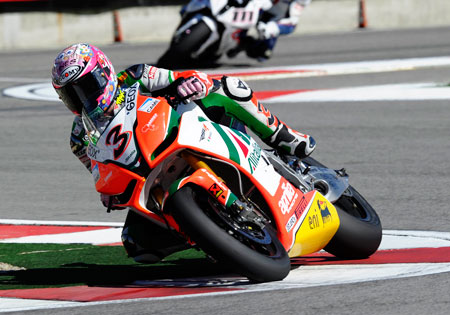 Max Biaggi is the oldest racer to win his first WSBK Championship. Biaggi will be 39 years, 3 months and 7 days old by the end of the final round at Magny-Cours, compared to Raymond Roche who was 33 years, 8 months and 28 days old when he won his first title in 1990.