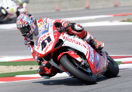 Noriyuki Haga has landed with a satellite Aprilia team for 2011.