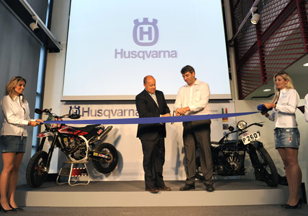 Husqvarna opened its new headquarters Sept. 21 in Biandronno, Italy.
