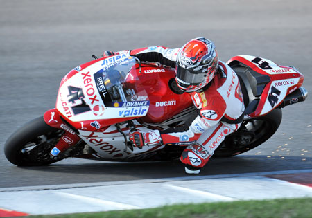 Noriyuki Haga gave a good effort but a Race One crash cost him the 2009 title.