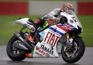 Rookie of the Year Jorge Lorenzo raced with special livery bearing the flags of 14 countries in which he has won a Grand Prix race.