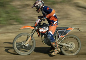 KTM's claims the Zero Emission bike weighs in at under 200 pounds.