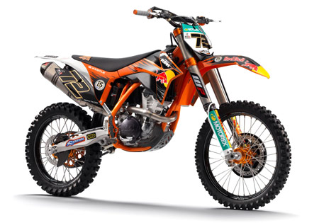 "The 350SX-F is the first in what KTM calls a ""new motocross generation""."