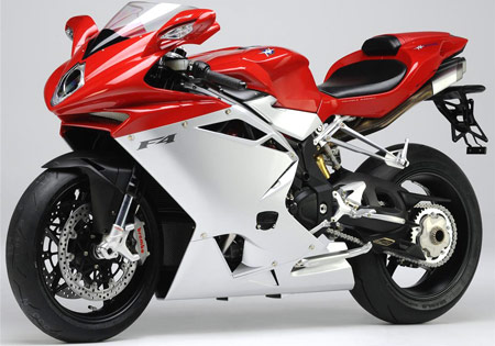 The 2010 MV Agusta F4 tweaks the design originated by Massimo Tamburini.