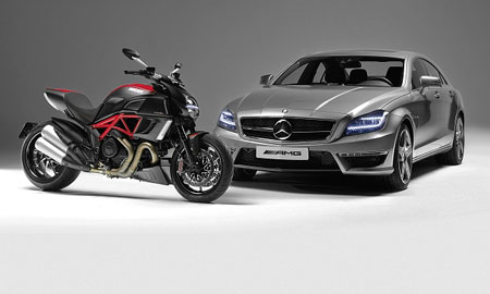 Ducati Diavel Mercedes-Benz CLS 63 AMG