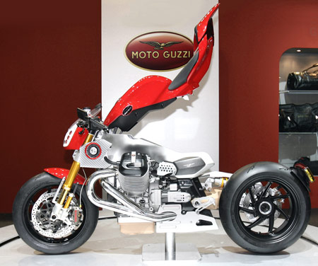 Moto Guzzi's V12 concepts were one of the more unique displays at last year's EICMA show.