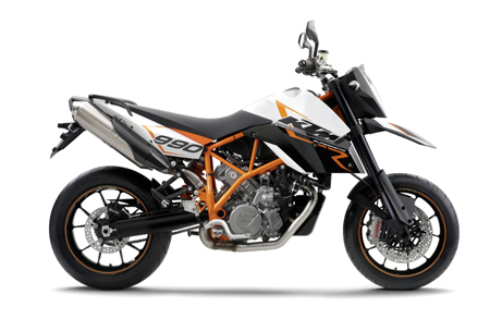 Previously available in Europe, the KTM 990 SMR and the base model 990 SMT will be available in North America as 2010 models.