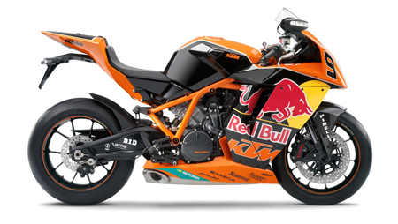 The 2010 IDM Red Bull Limited Edition KTM 1190 RC8R.