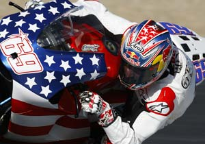 Nicky Hayden sends his Thanksgiving wishes to everyone in the U.S.A.