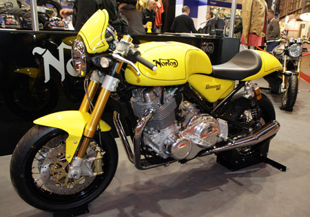 The Norton Commando 961Café Racer was unveiled at the 2009 Carole Nash International Motorcycle and Scooter Show.