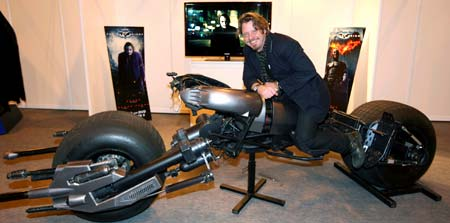 While his buddy Ewan McGregor gets to fly spaceships in a galaxy far far away, Charley Boorman settles for a ride fit for the streets of Gotham.