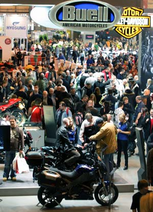 The Carole Nash Motorcycle & Scooter Show continues until Dec. 7 at Birmingham's National Exhibition Centre.
