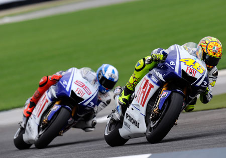 Valentino Rossi and Jorge Lorenzo look to be in the mix for the MotoGP title again in 2010.