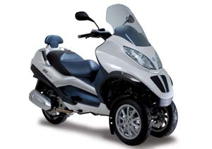 A 100% import duty could mean machines such as Piaggio's prototype hybrid MP3 may not see the light of day in the U.S.