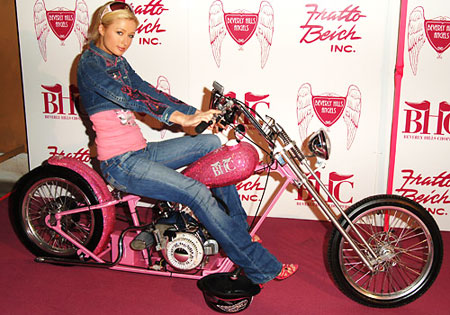 Paris Hilton motorcycle