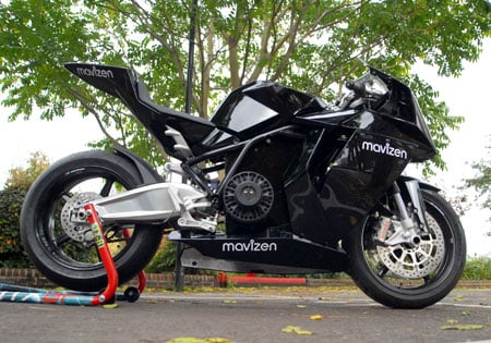 An electric Mavizen TTX02 is more likely to race at a Canadian Superbike event next year than the Yamaha R1.