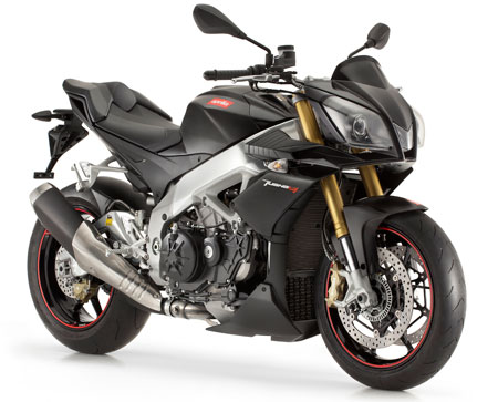 This naked gets its power from infamous Aprilia's V4 engine.