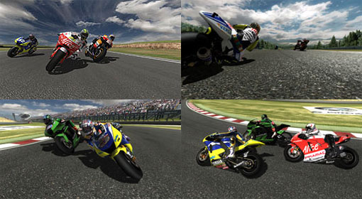 Check out these screen shots from MotoGP 08.