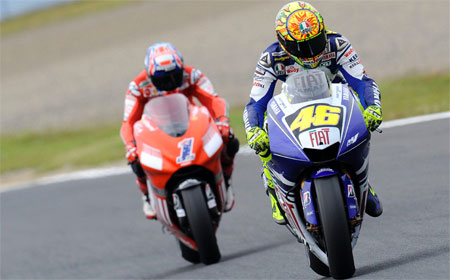 Valentino Rossi never looked back after passing Casey Stoner.